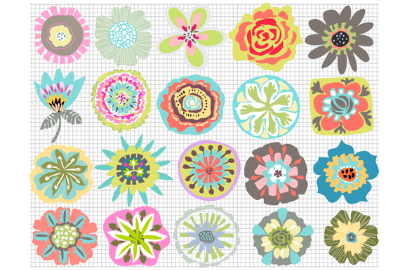 https://creativemarket.com/karenfields/196144-Flowers-for-Digital-Patterns-Icons