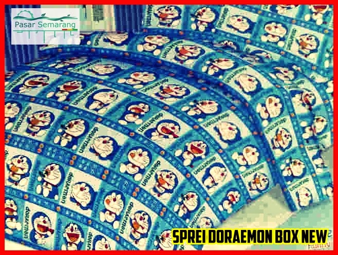 jual cadar spring bed motif doraemon murah indonesia