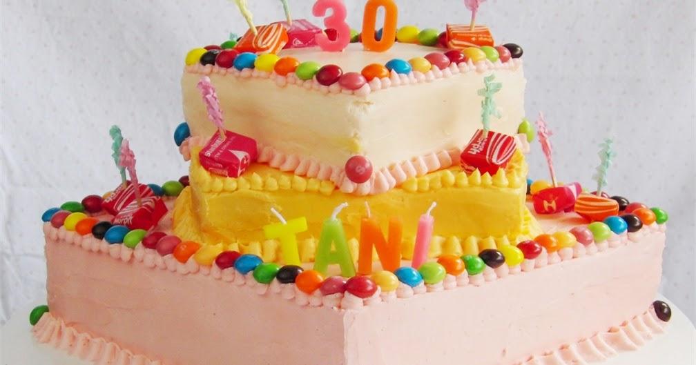 Curly Girl Kitchen: Tie-Dye Starburst Skittle Birthday Cake