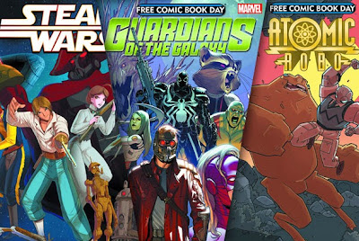 Star Wars, Guardians of the Galaxy, Atomic Robo