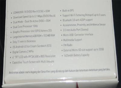 Andromax C (Phablet/Phone Tablet Dual On CDMA+GSMdibawah 1 Juta