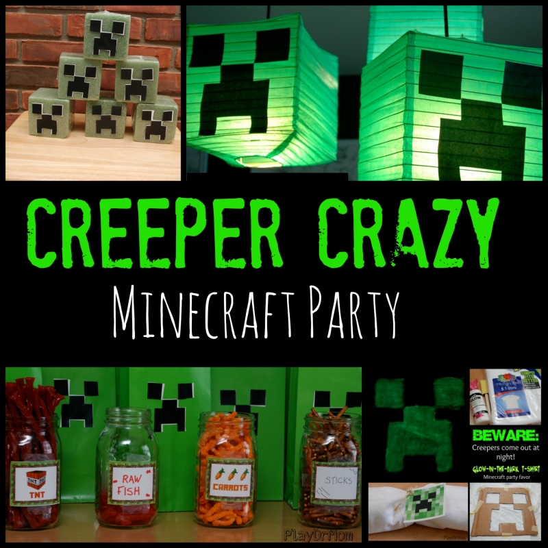http://blog.playdrhutch.com/2014/03/06/creeper-crazy-minecraft-party/