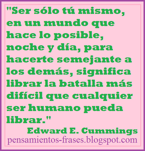 frases de Edward Estlin Cummings