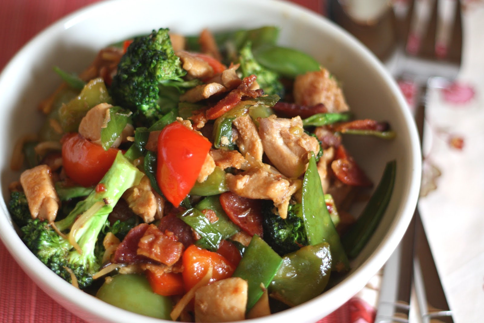 Barefeet In The Kitchen: Spicy Chinese Vegetable Stir Fry with Chicken