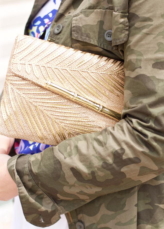 gold lily pulitzer clutch