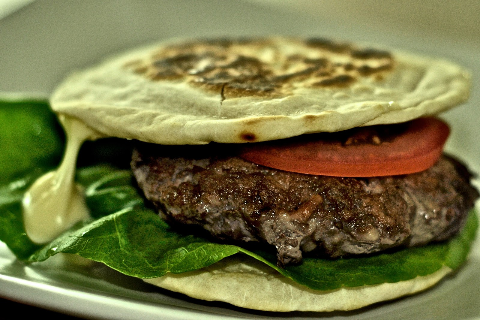The Kitchen Journal: Beef Burger with Flat bread stuffed ...