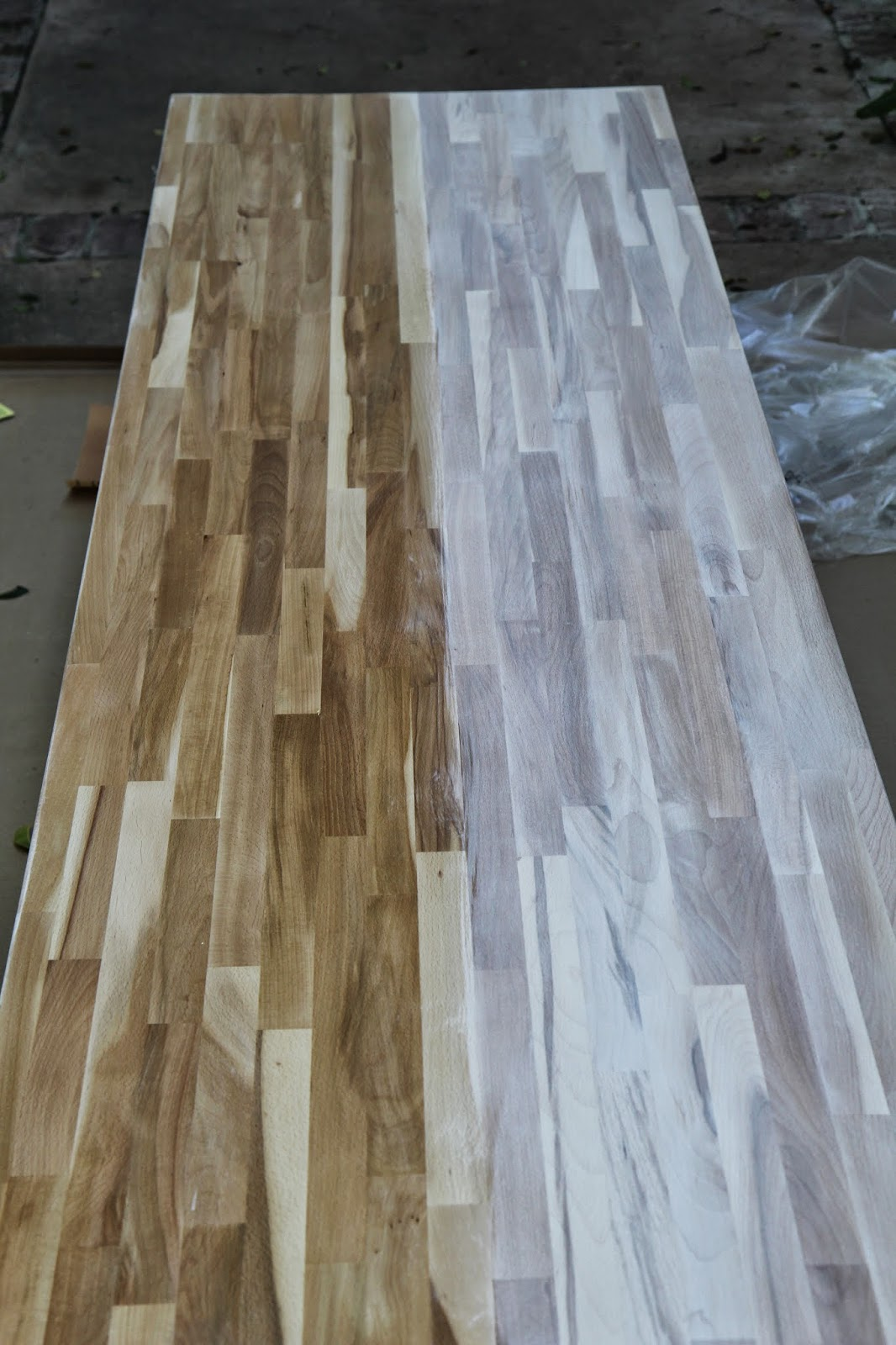Whitewashing wood; Designing Our Home Office; Nora's Nest