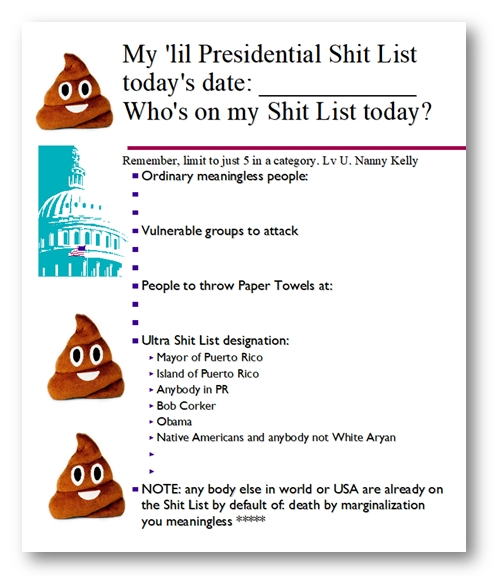 "What is this ""shit list"" Trump often refers to?"