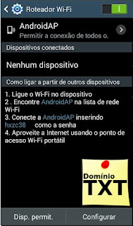 DominioTXT - Roteador Wifi Android