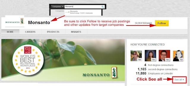 follow companies on LinkedIn, LinkedIn company page,