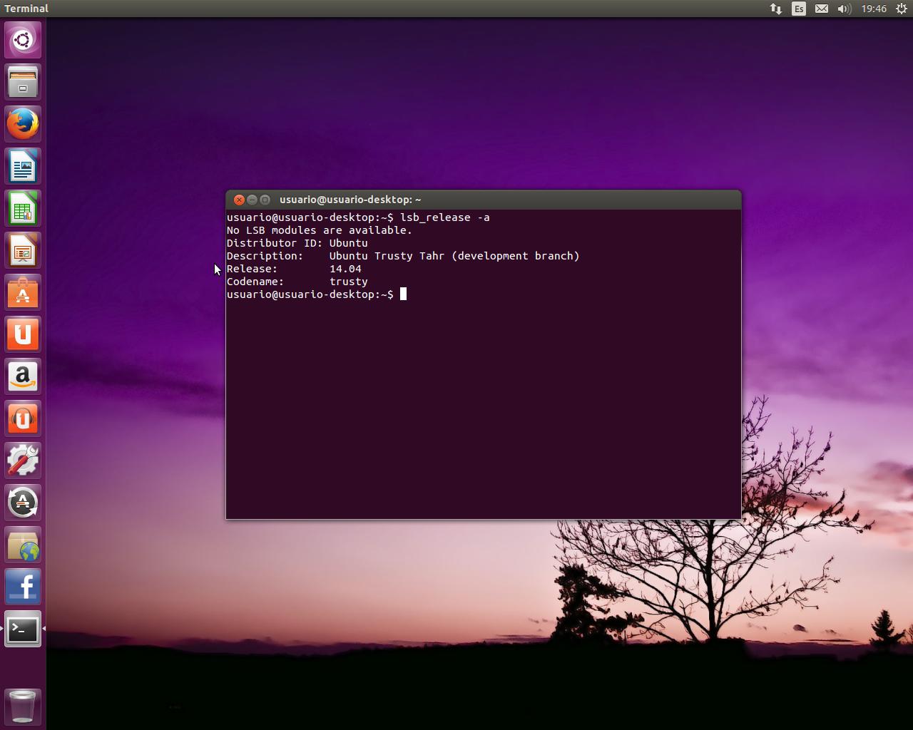 Escritorio Ubuntu 14.04 Alpha 1