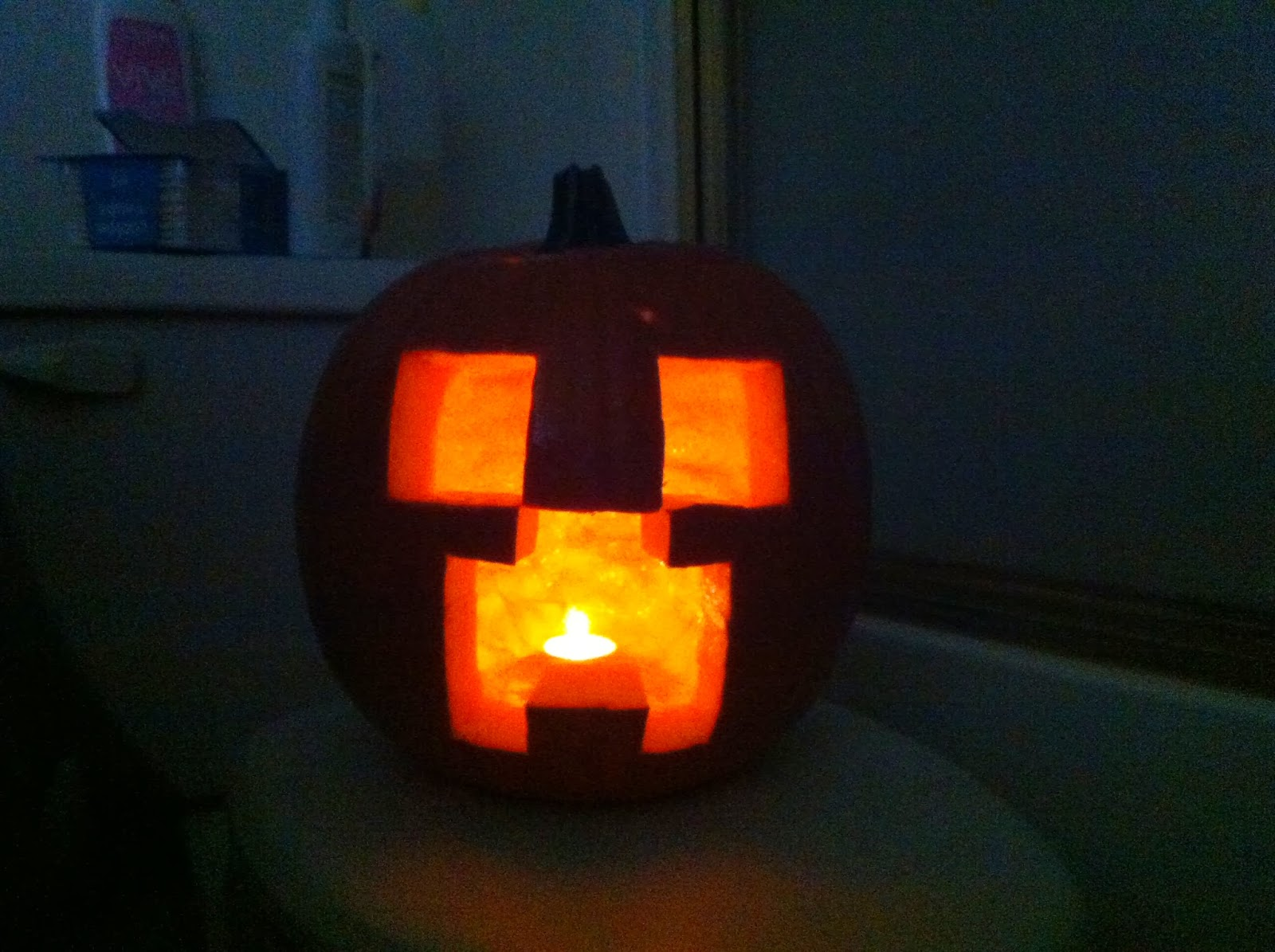 Minecraft Pumpkin Face