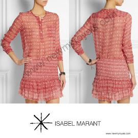 Princess Marie Style ISABEL MARANT Top and Skirt and HERMES Oasis Sandals