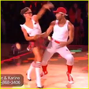 Corbin Bleu & Karina Smirnoff: The Jive on 'DWTS' - Watch Now!