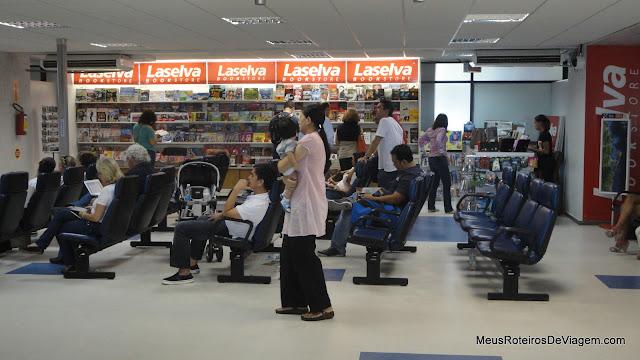 Sala de embarque - Aeroporto Internacional Hercílio Luz-Florianópolis
