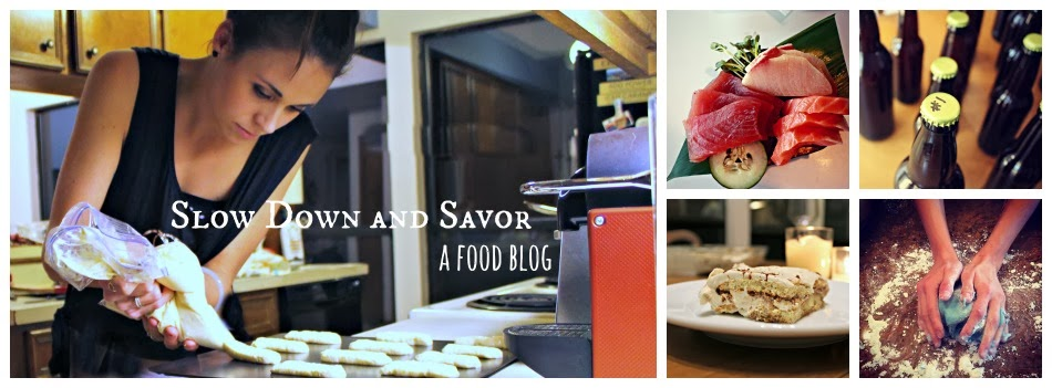 slow down and savor - a food blog