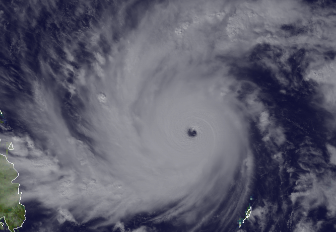 Super Taifun Hagupit Ruby, Satellitenbild, 2014, Dezember, Philippinen