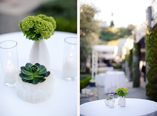 white modern wedding