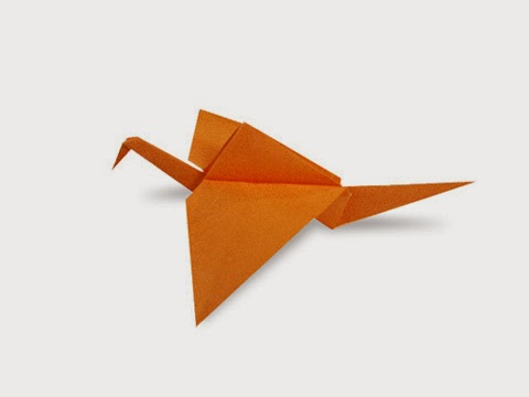 Hướng dẫn cách gấp con cò bay bằng giấy đơn giản - Xếp hình Origami với Video clip - How to make a Stork