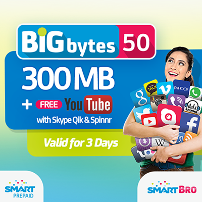 Smart BIG Bytes Promo, Smart Prepaid, Smart Post paid, Smart bro