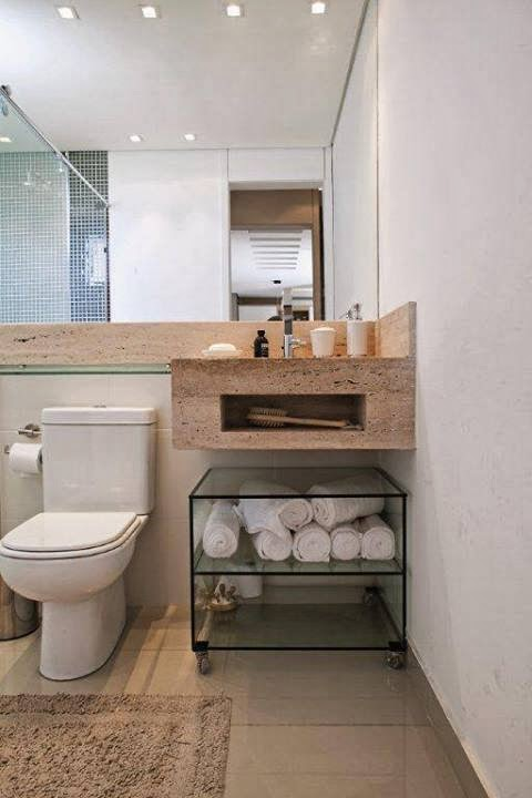 DIY Decoração Banheiros e lavabos -> Decoracao Banheiro Diy