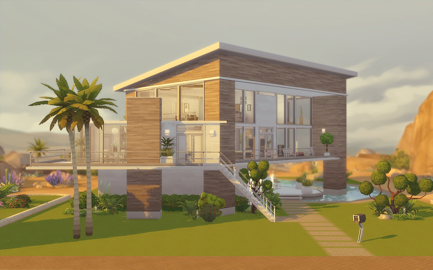 House 19 the sims 4 via sims for Casas modernas the sims 4