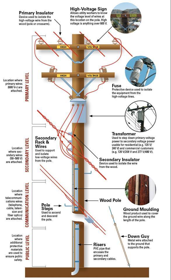 Utility Pole Diagram