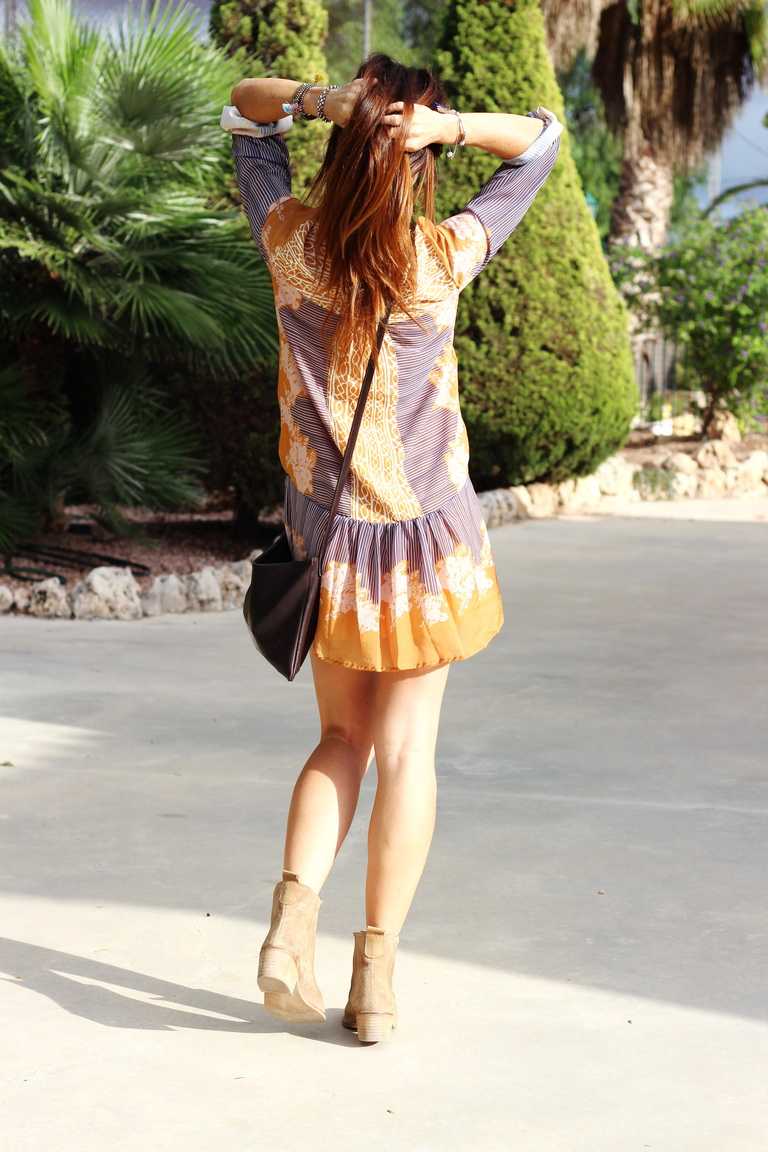 Shein, Dress, Fashion blogger, Mustard, Tendencias 2015, Blogger