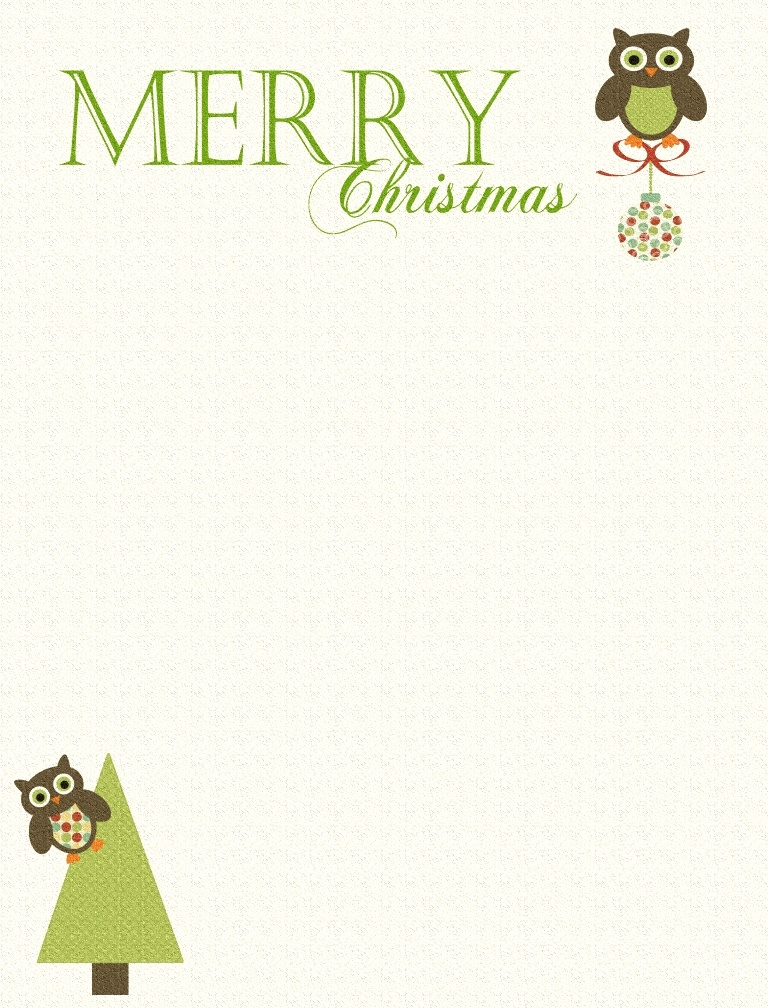 Universal image throughout free printable christmas letterhead