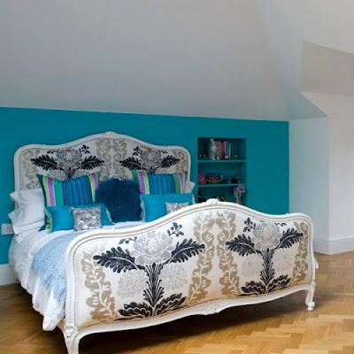decoración dormitorio inglés