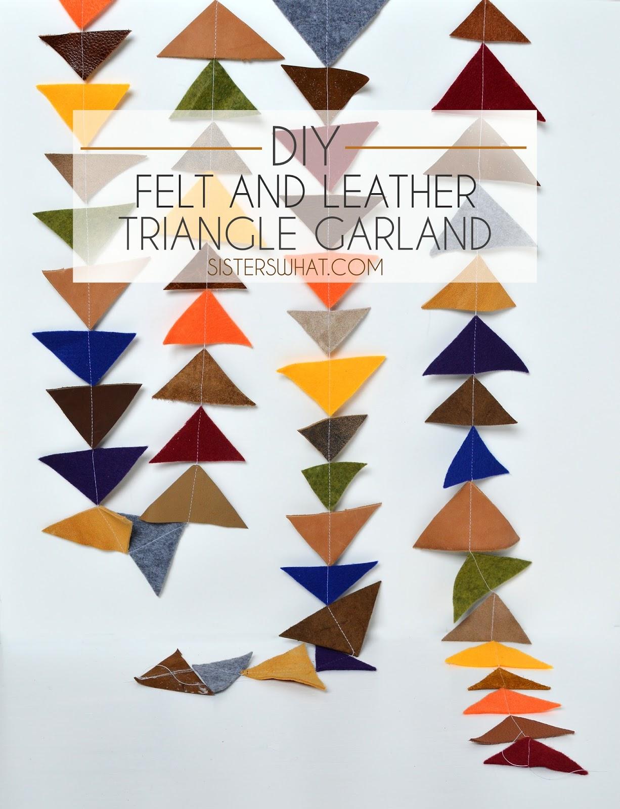 DIY felt and leather Triangle #Garland