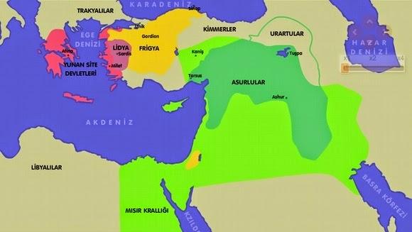 M.Ö.8.yy sonları Anadolu Uygarlıkları