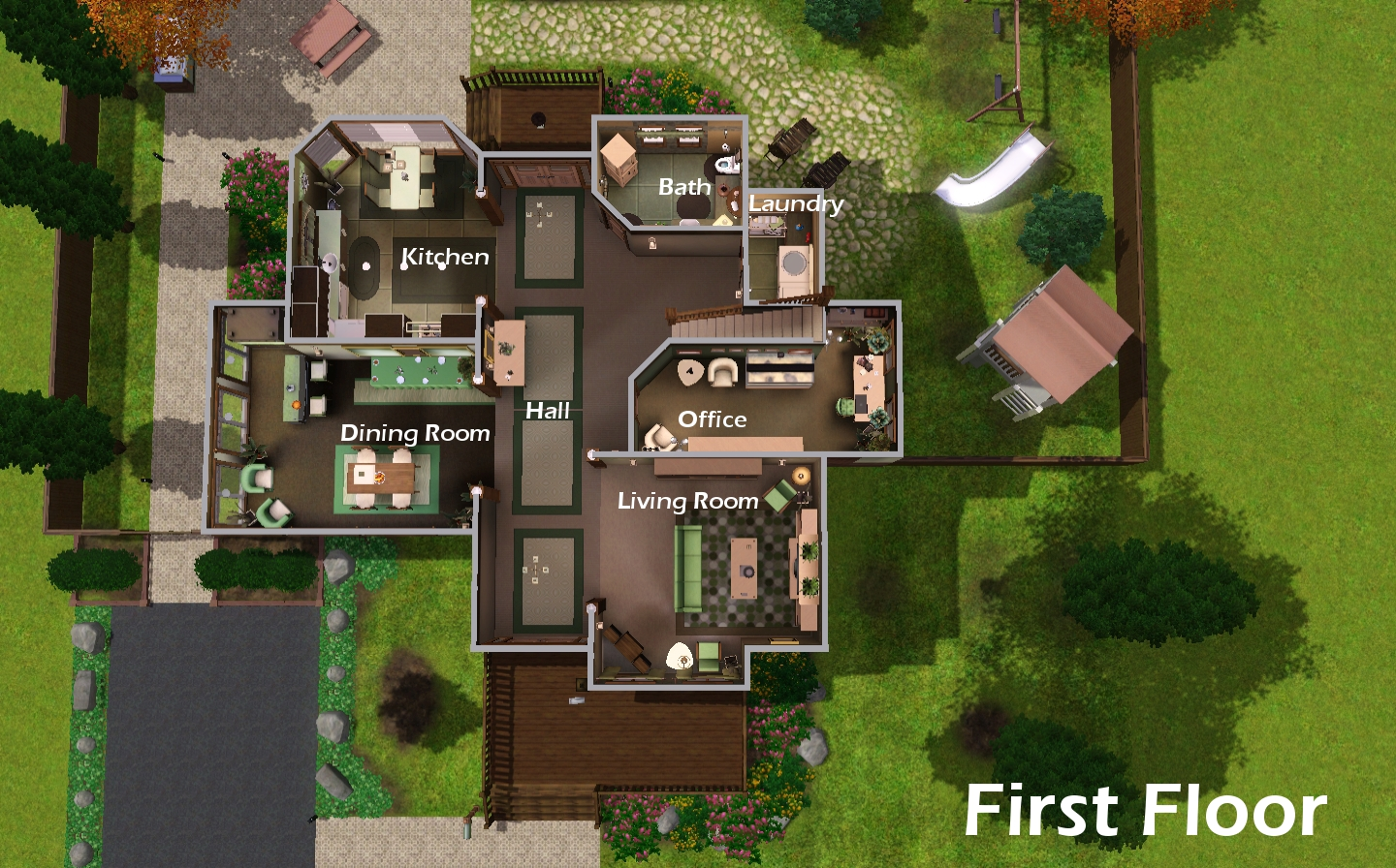 23 best simple sims 3 mansion floor plans ideas building for Sims 4 floor plans