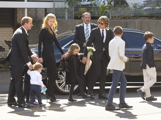 Nicole Kidman's father's funeral in Sydney