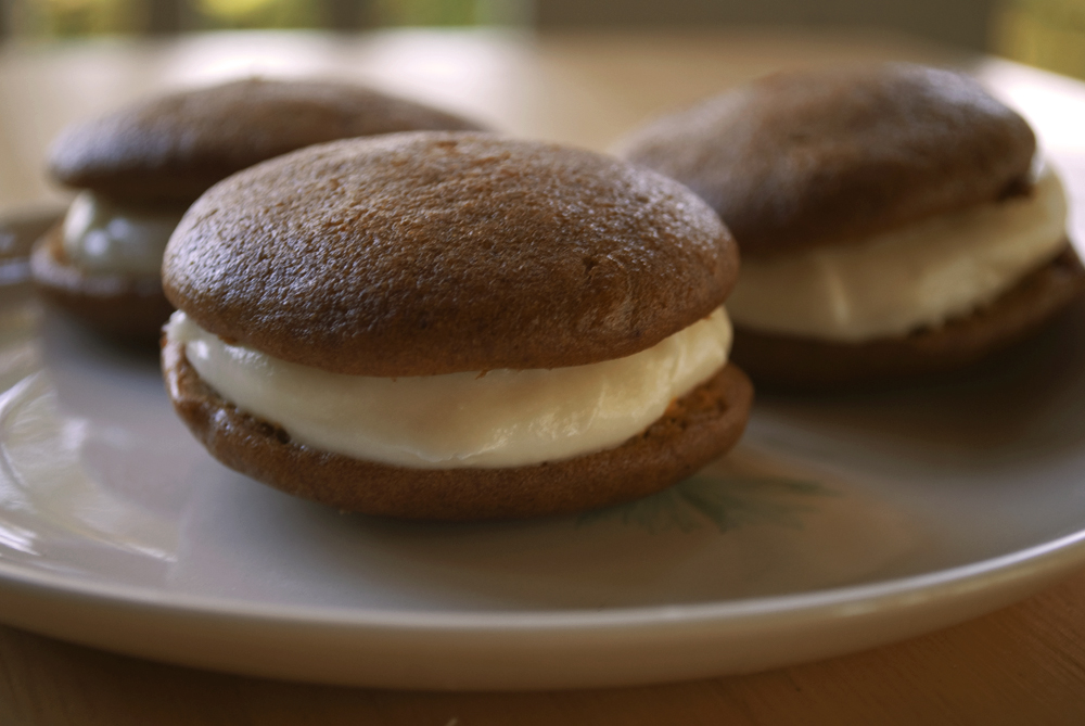 ... Upon My Life: Pumpkin Whoopie Pies with Maple Cream Cheese Filling