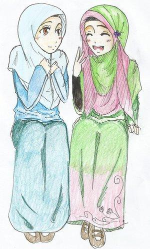 Gambar Animasi Kartun Islami Lucu DP BBM Bergerak