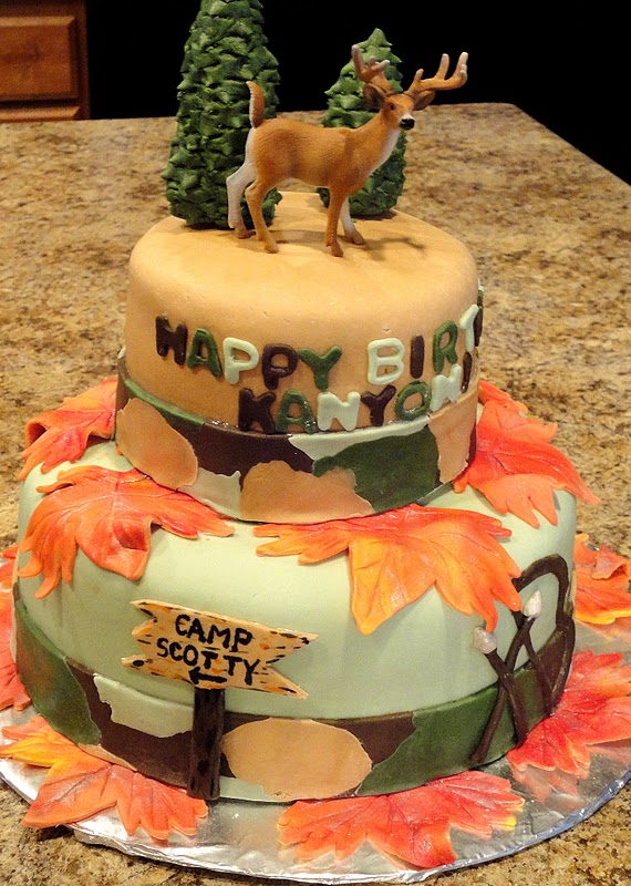 Deer Hunting Themed Birthday Cakes
