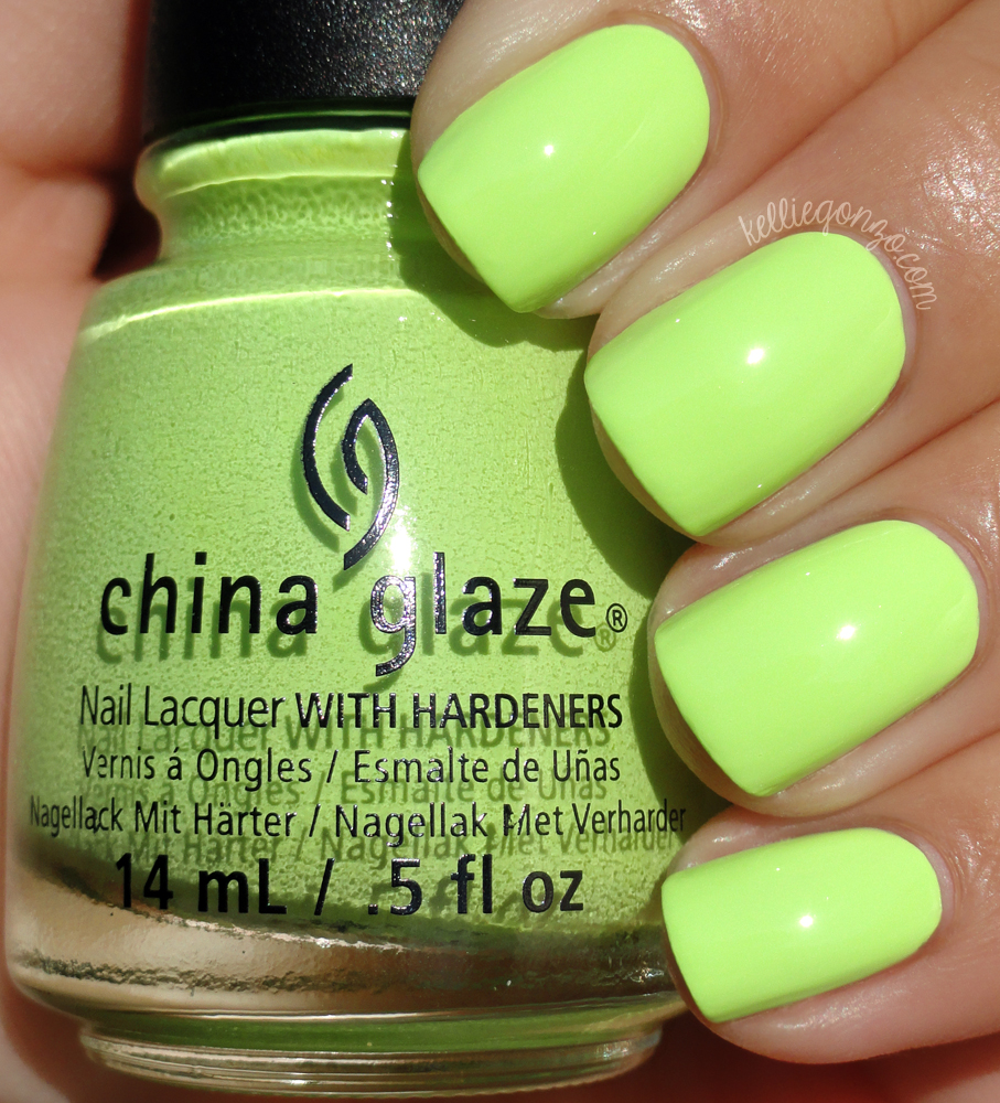 kelliegonzo: China Glaze - Grass Is Lime Greener