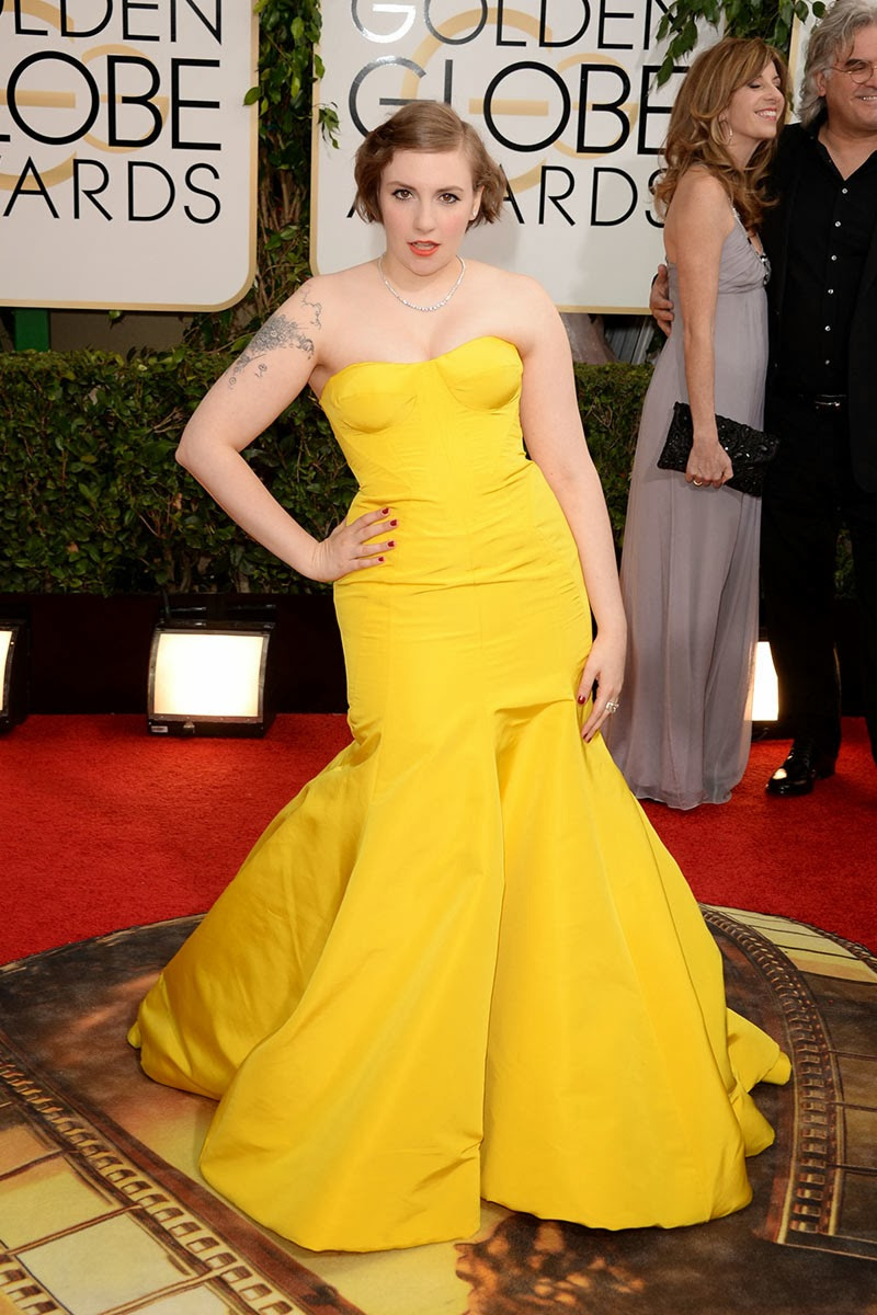 Lena Dunham Globos de Oro 2014