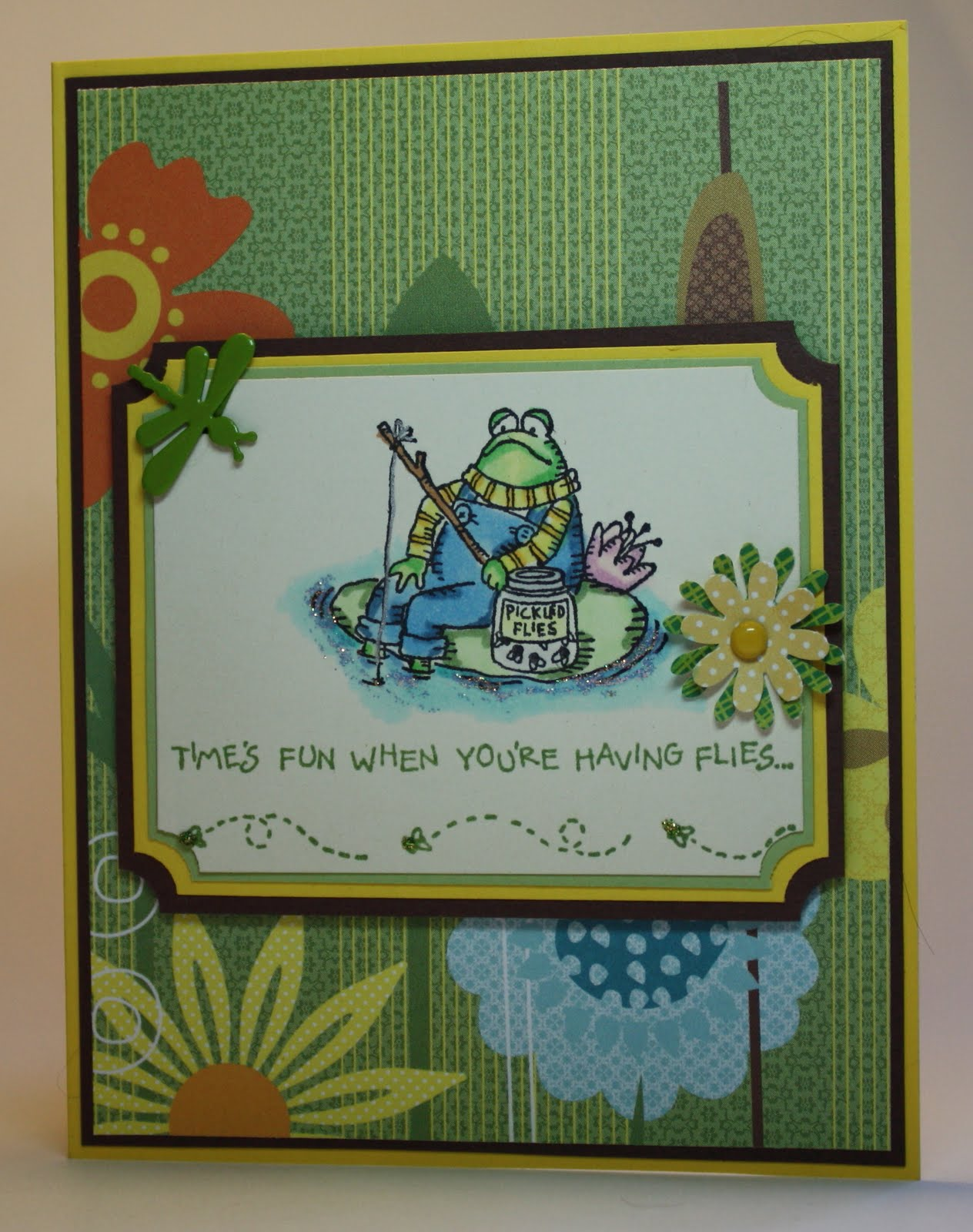 stampin up frogs and flies intellivision