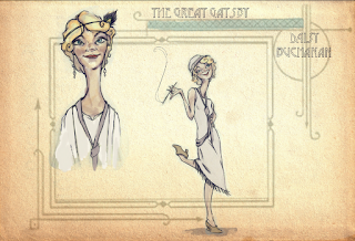 Daisy Buchanan Illustration The Great Gatsby
