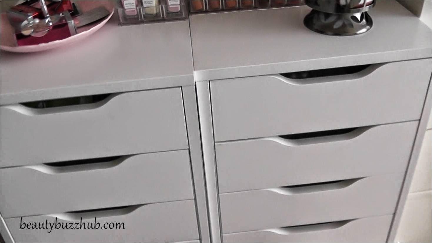ikea alex makeup storage organization. Black Bedroom Furniture Sets. Home Design Ideas