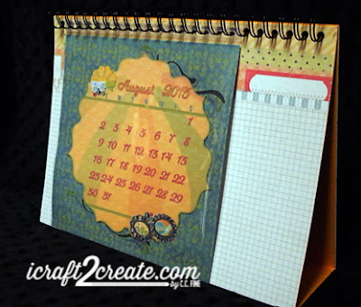 calendar, flip calendar, 3D, papercraft, DIY, Bo Bunny, DCWV