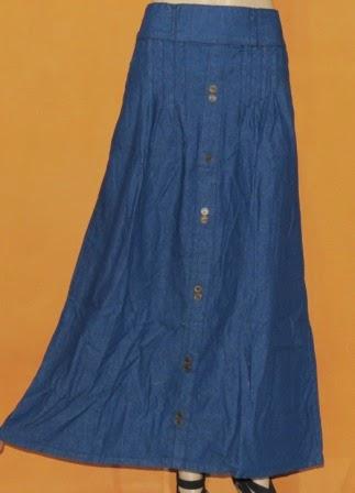 Rok Panjang Bahan Jeans RM305