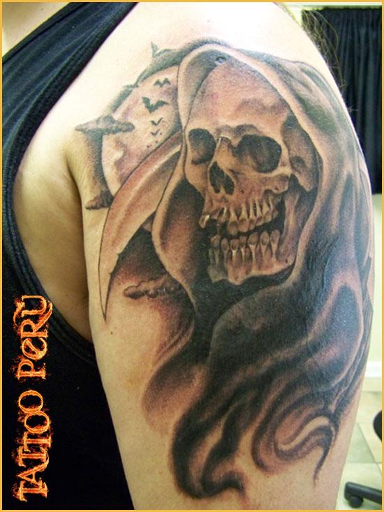 tatuajes de calaveras, craneos y huesos