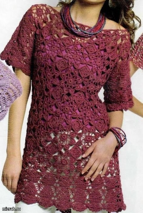Vestido con grannys al crochet