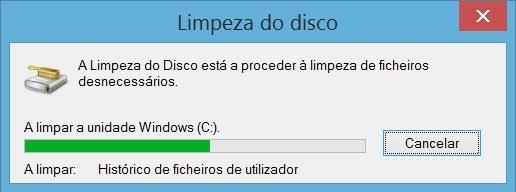 Limpeza do pc - Limpeza do disco - A eliminar ficheiros desnecessários