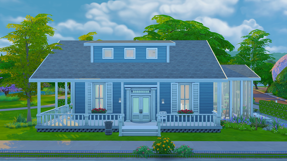 My sims 4 blog magnolia house by valpre for Minimalist house the sims 4