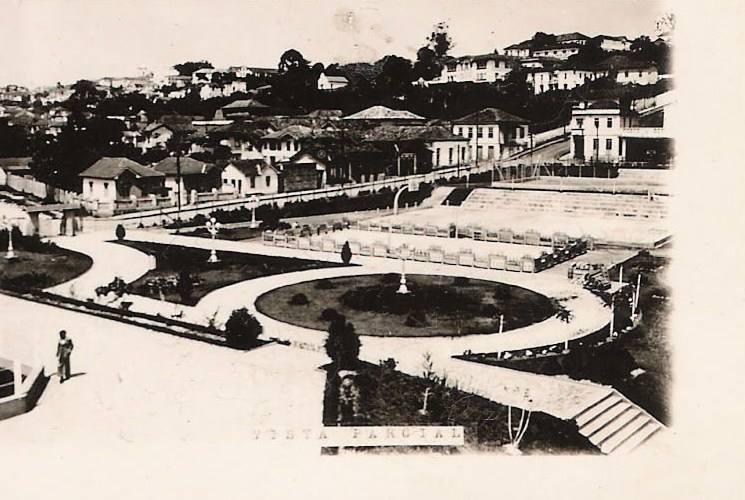 Vista Parcial Rua Arthur Bernardes e Praça Desportos EPCAR - Barbacena MG Circa 1960