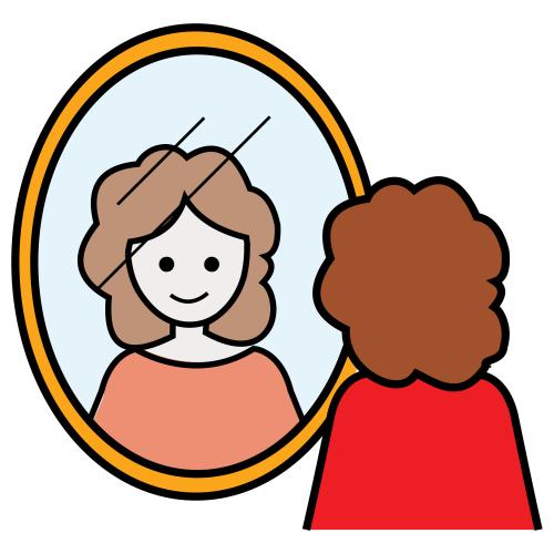 Frente al espejo for Regard dans le miroir